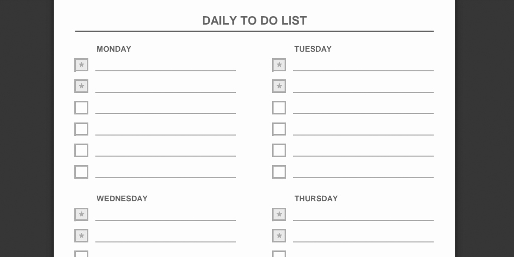Weekly todo List Template Best Of Every to Do List Template You Need the 21 Best Templates