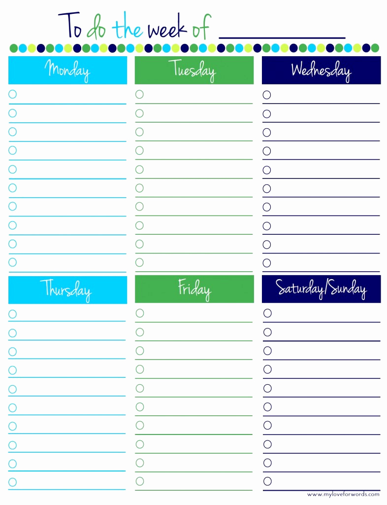 Weekly todo List Template Inspirational Freebie Friday Weekly to Do List