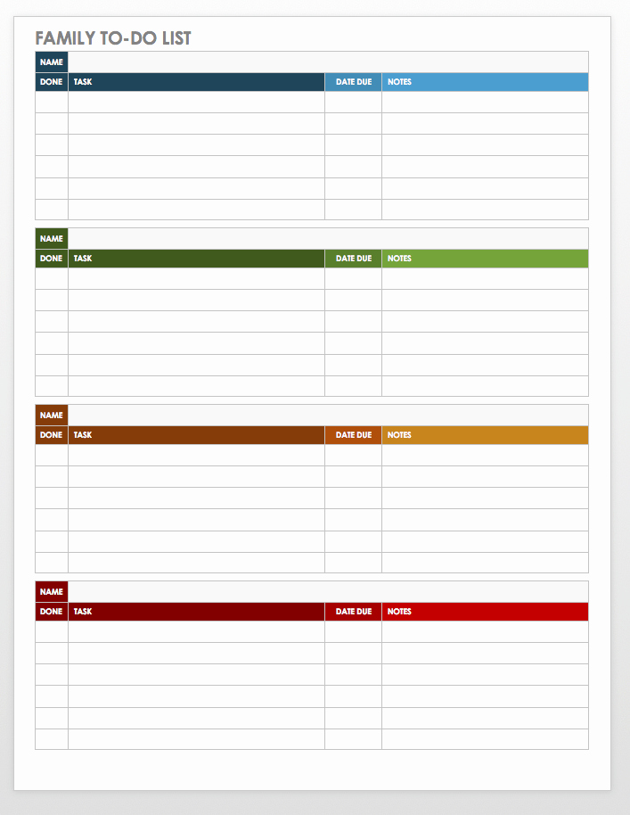 Weekly todo List Template New 30 Free Task and Checklist Templates