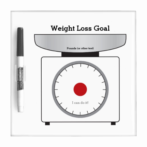 Weight Loss Goal Chart Awesome Re Useable Weight Loss Goal Chart Dry Erase Whiteboards