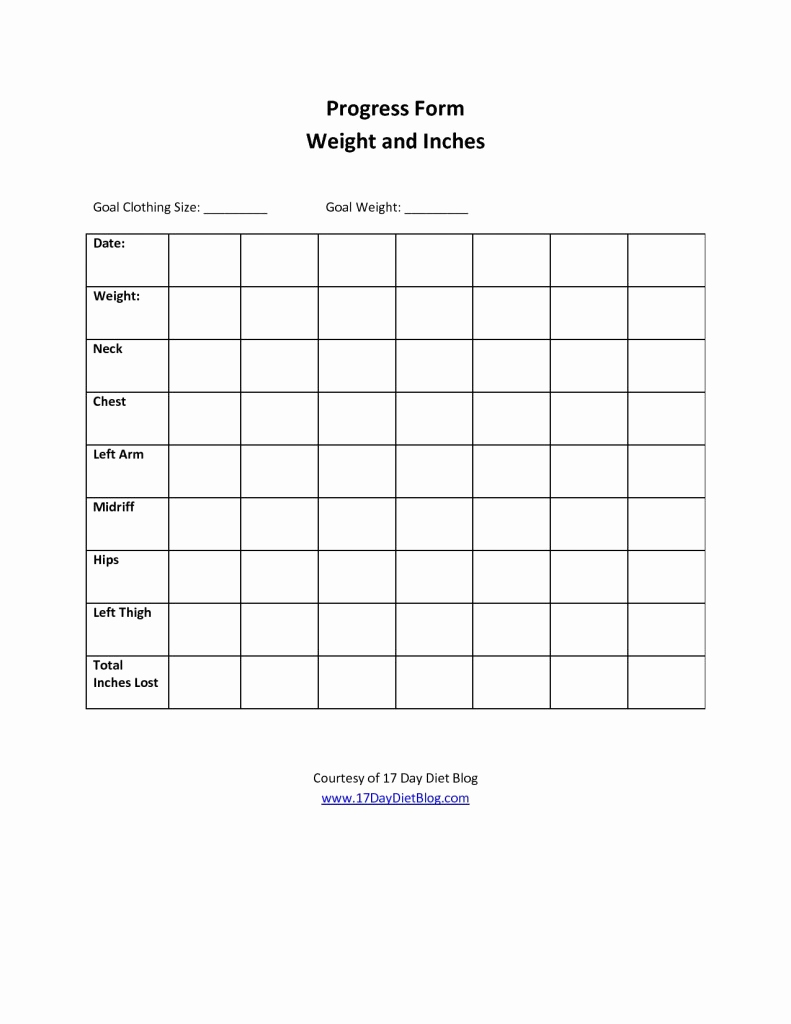 Weight Loss Goal Chart Elegant Weight Loss Chart