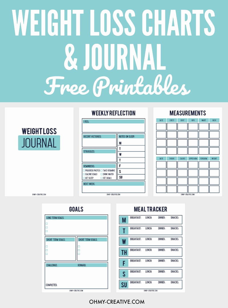 Weight Loss Goal Charts Inspirational Printable Weight Loss Chart and Journal for Weight Loss