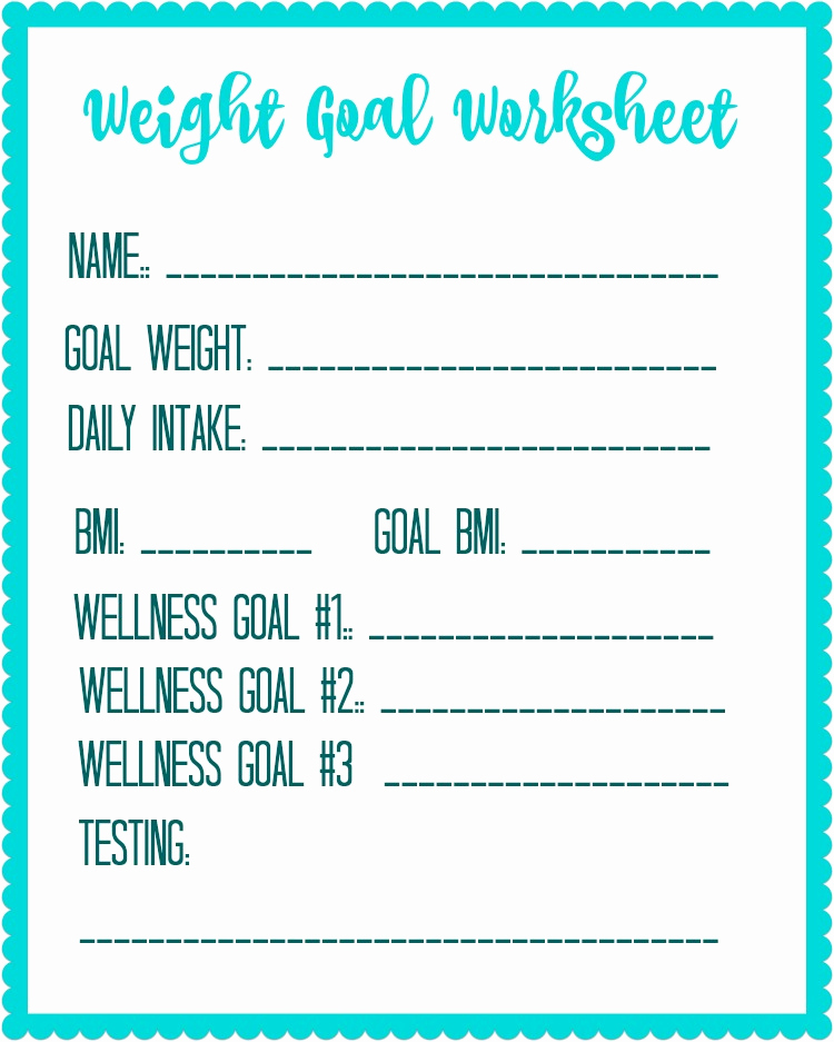 Weight Loss Goal Charts Luxury Free Printable Weight Loss Goal Worksheet Debt Free Spending