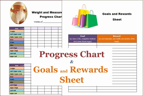Weight Loss Progress Chart Awesome Items Similar to Instant Download Weight Loss Progress