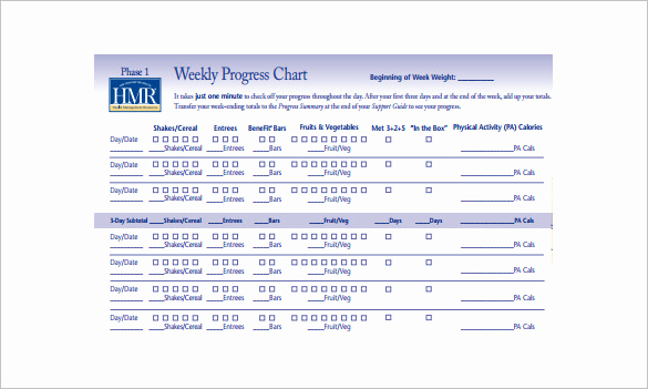 Weight Loss Progress Chart Fresh Weight Loss Chart Template – 9 Free Word Excel Pdf