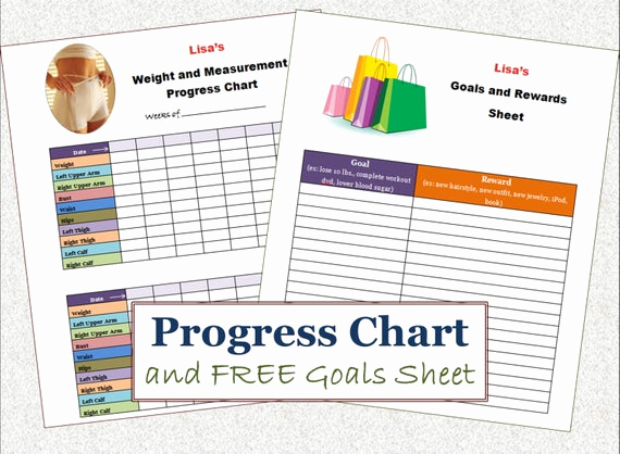 Weight Loss Progress Chart Lovely Items Similar to Instant Download Weight Loss Progress