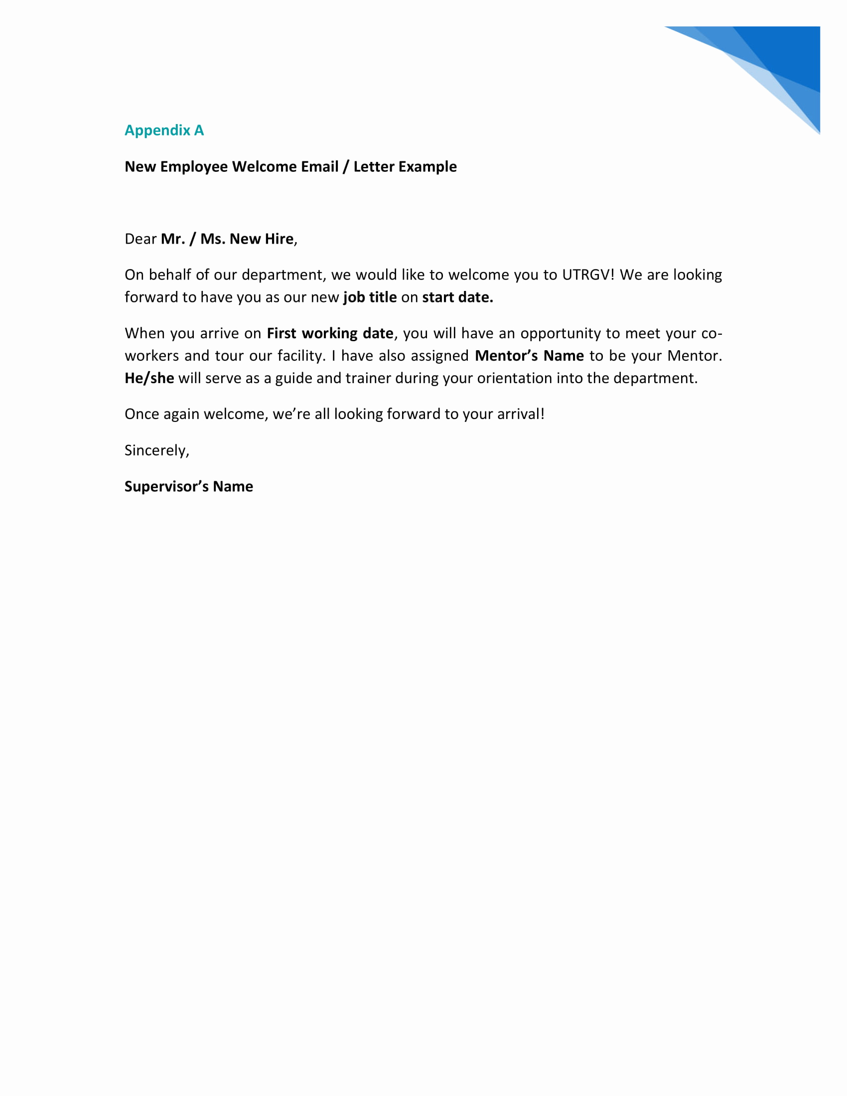 Welcome Letter to New Employee Awesome 9 New Hire Wel E Letter Examples Pdf