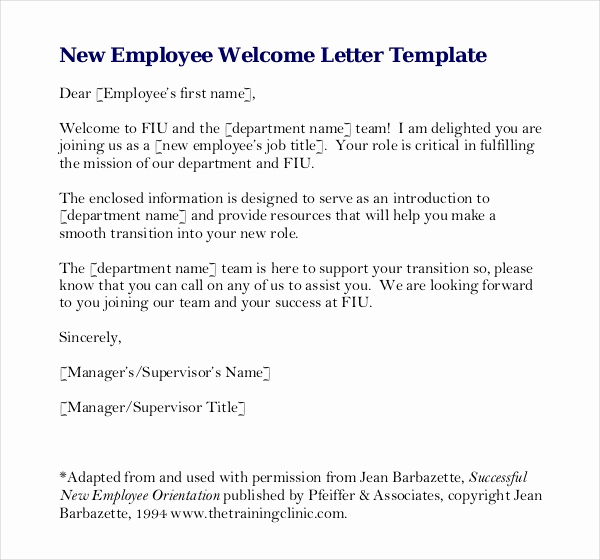 Welcome Letter to New Employee Best Of 10 Employees Write Up Templates Word Pdf