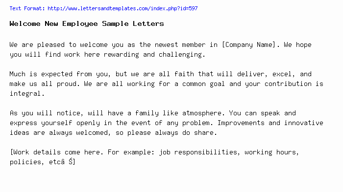 Welcome Letter to New Employee Best Of Wel E New Employee Sample Letters