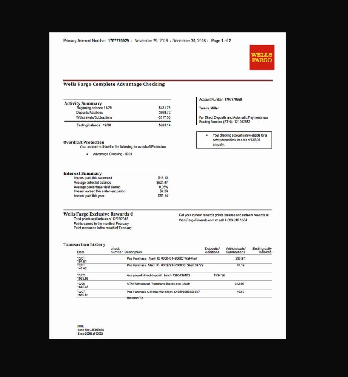 Wells Fargo Bank Statement Template Best Of Create Fake Bank Statement Pdf with Plus Wells Fargo