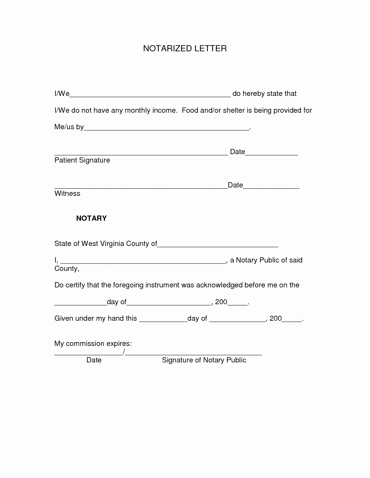 What is A Notarized Letter Awesome Best S Of Generic Notary Letters Sample Notarized