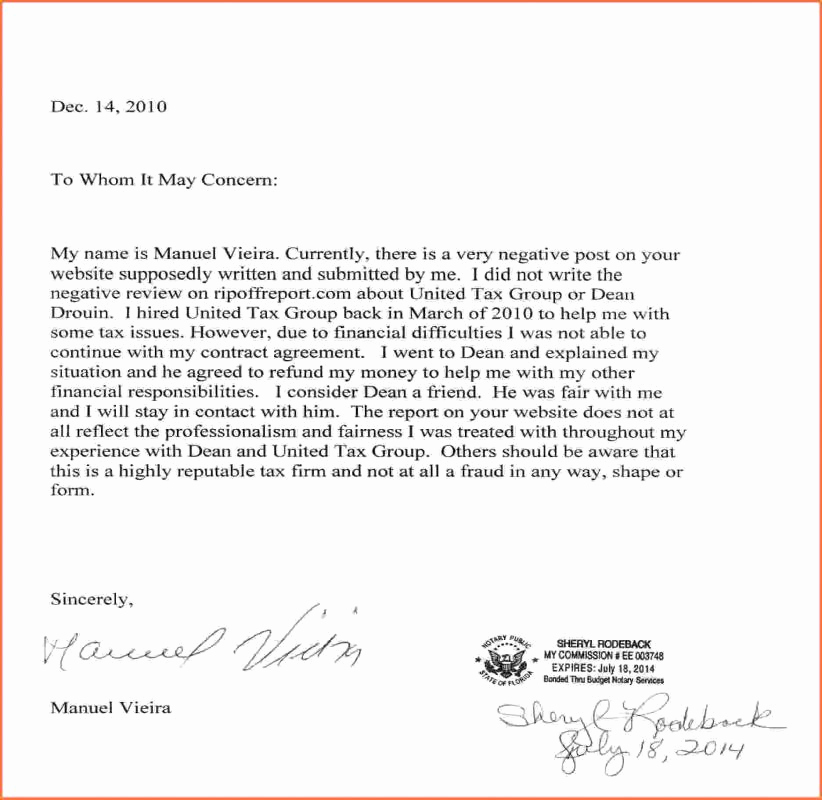 What is A Notarized Letter Inspirational How to Write A Notarized Letter