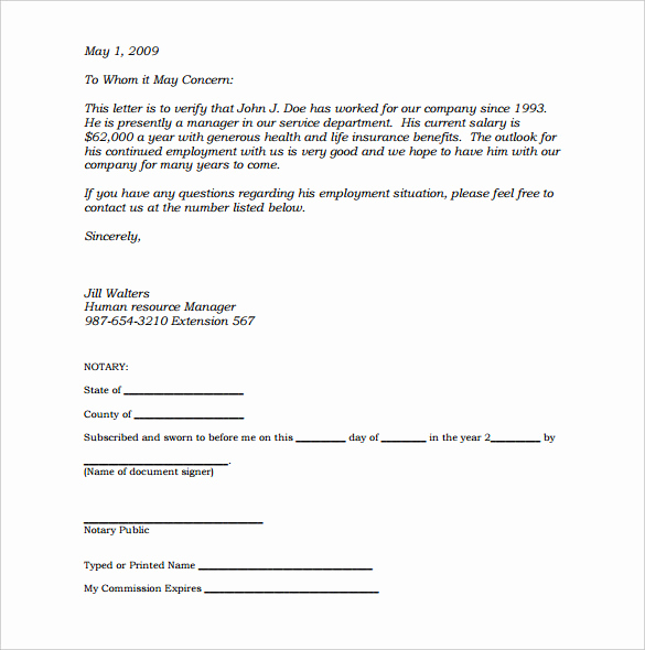 What is A Notarized Letter Lovely Notary Document Sample