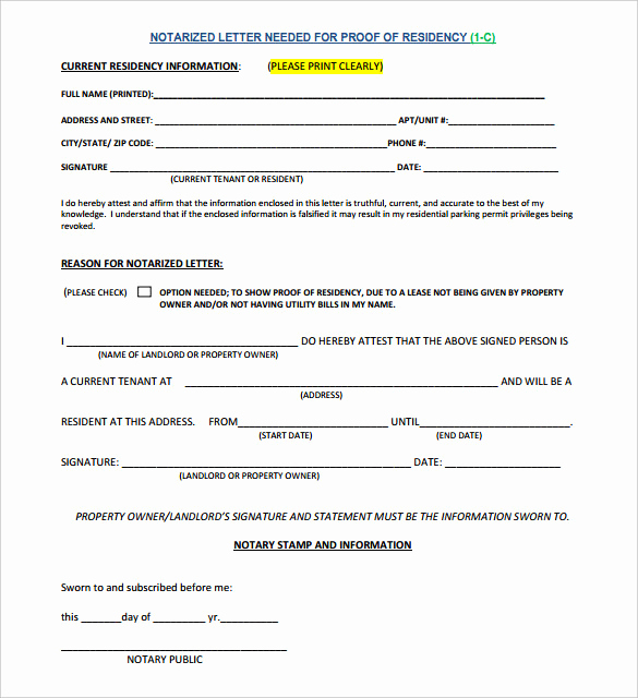 What is A Notarized Letter Unique 7 Notarized Letter Template Doc Pdf