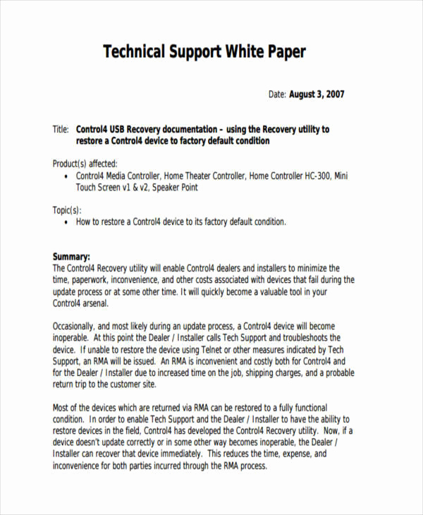White Paper Examples Pdf Awesome 36 Sample White Papers
