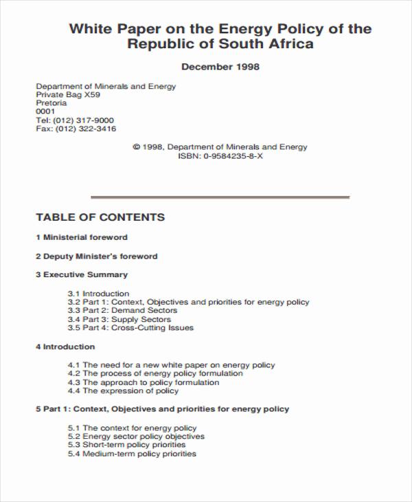 White Paper Examples Pdf Elegant 43 Free White Paper Templates