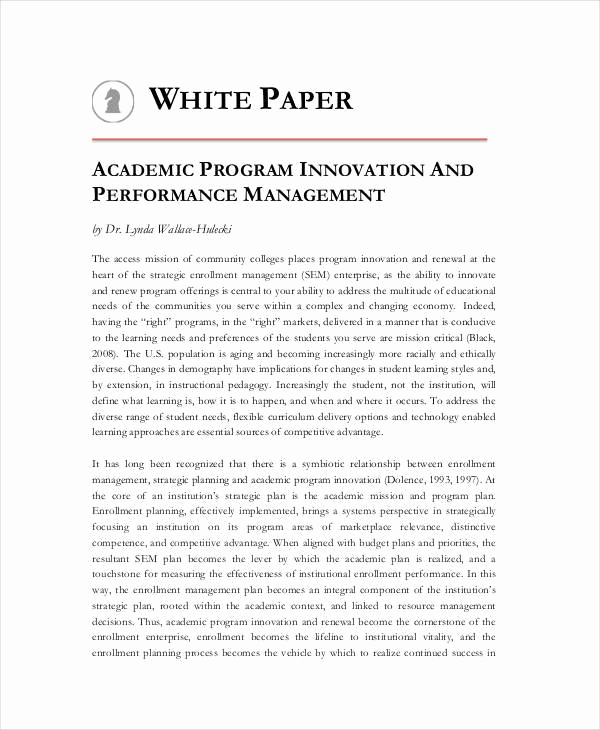 White Paper Examples Pdf Lovely 37 Sample White Paper Templates