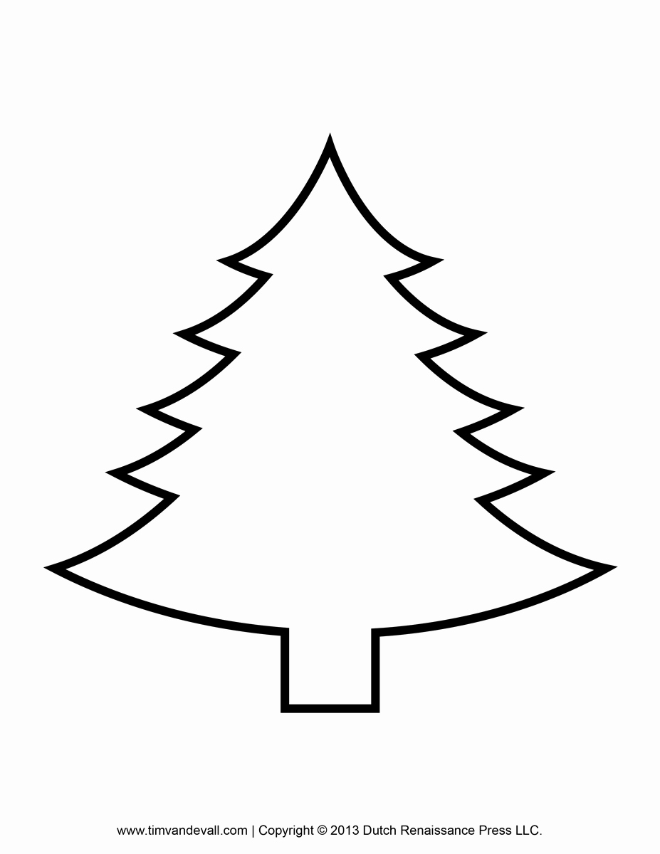 White Paper Outline Template Awesome Printable Paper Christmas Tree Template and Clip Art