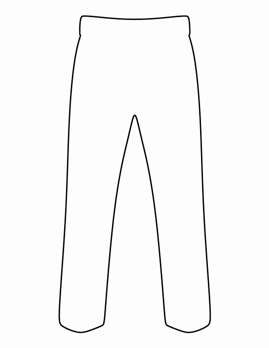 White Paper Outline Template Beautiful Pants Pattern Use the Printable Outline for Crafts