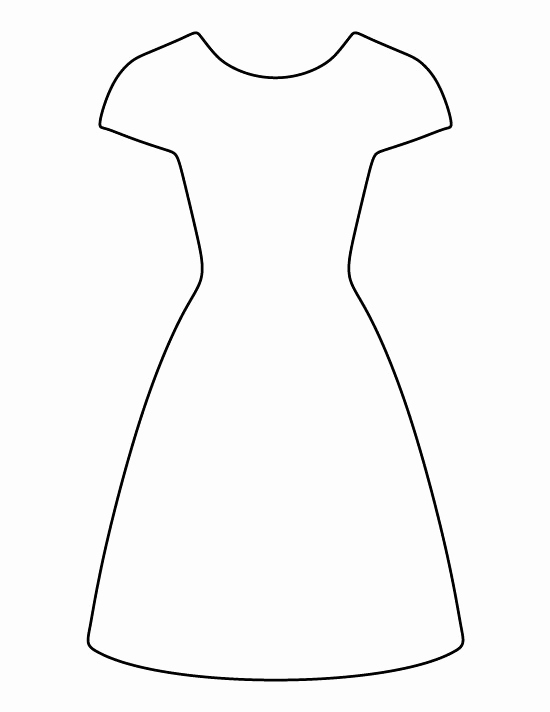 White Paper Outline Template Elegant Dress Pattern Use the Printable Outline for Crafts