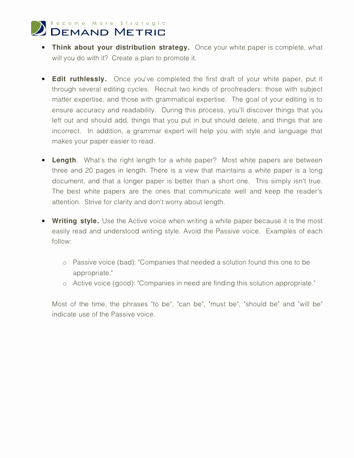 White Paper Outline Template Elegant White Paper Template