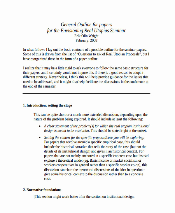 White Paper Outline Template Inspirational 10 Paper Outline Templates Free Sample Example format
