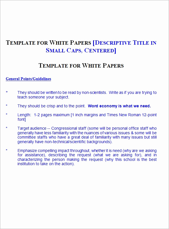 White Paper Template Word Elegant 13 White Paper Templates – Pdf Word