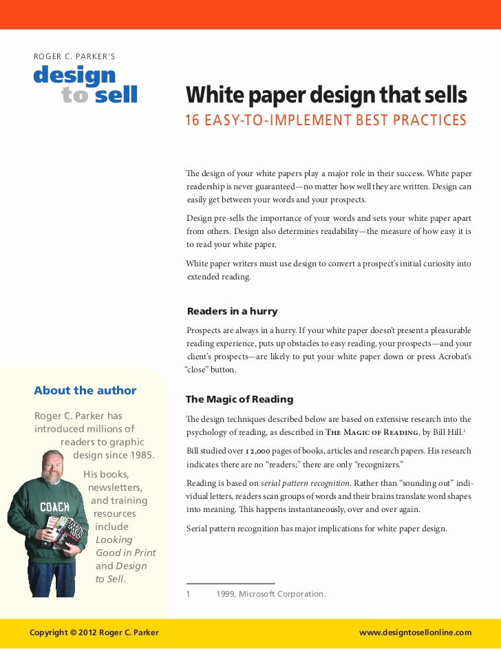 White Paper Template Word Inspirational White Paper Design Tips that Sell