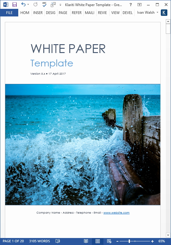White Paper Template Word Unique White Paper Writing Tips