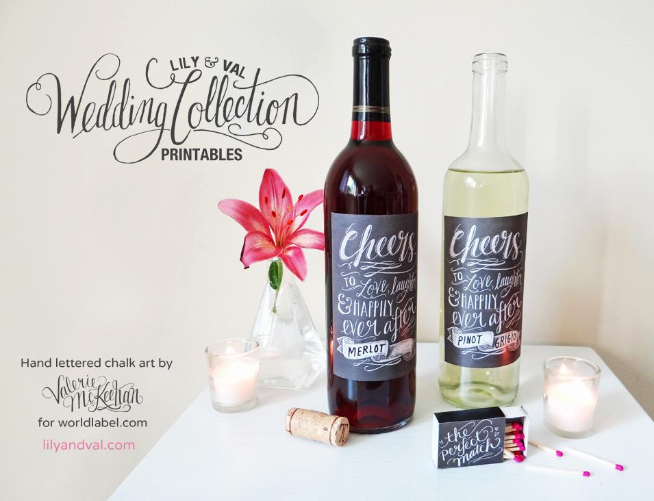 Wine Bottle Label Template Beautiful Chalkboard Labels