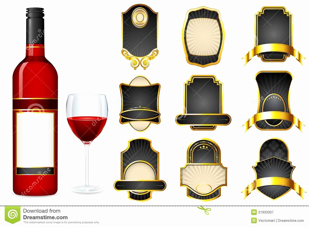 Wine Bottle Label Template Luxury Liquor Label Template