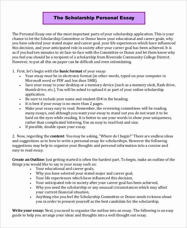 Winning Scholarship Essay Examples Best Of Scholarship Essay Samples Essay Writing Center
