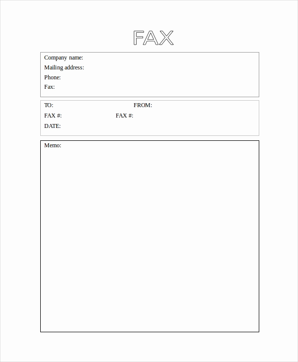 Word Fax Cover Sheet Fresh 40 Blank Templates Free Sample Example format