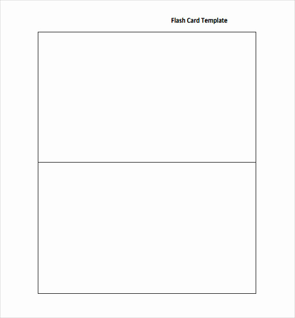 Word Flash Card Template Beautiful Sample Flash Card 12 Documents In Pdf