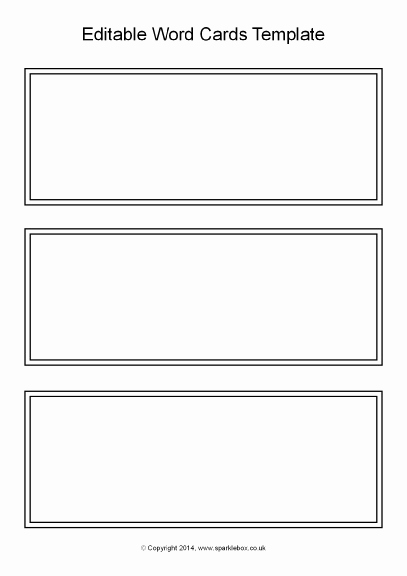 Word Flash Card Template Best Of 21 Of Blank Task Cards Template Black and White