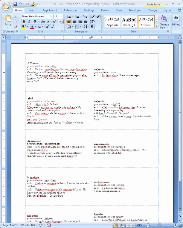 Word Flash Card Template Elegant Index Of Templates