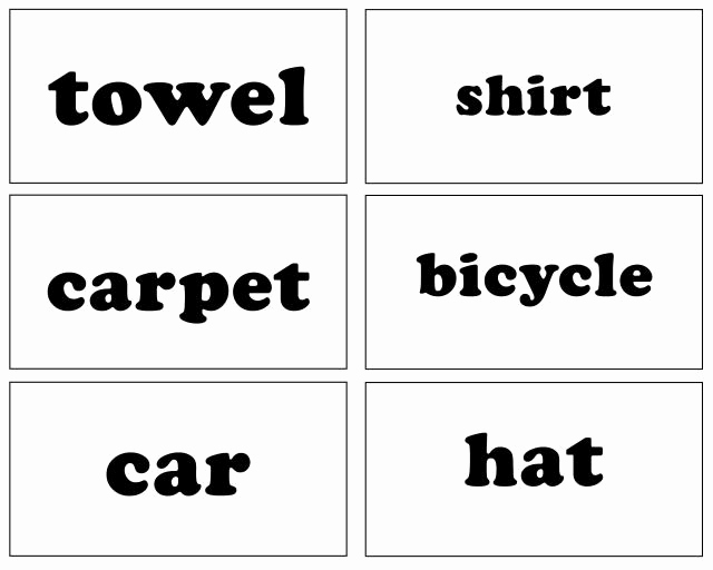Word Flash Card Template Luxury Sight Words Household Items Free Printable Coloring Pages