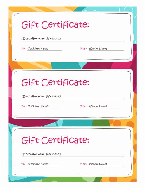 Word Gift Certificate Template Awesome Certificates Fice