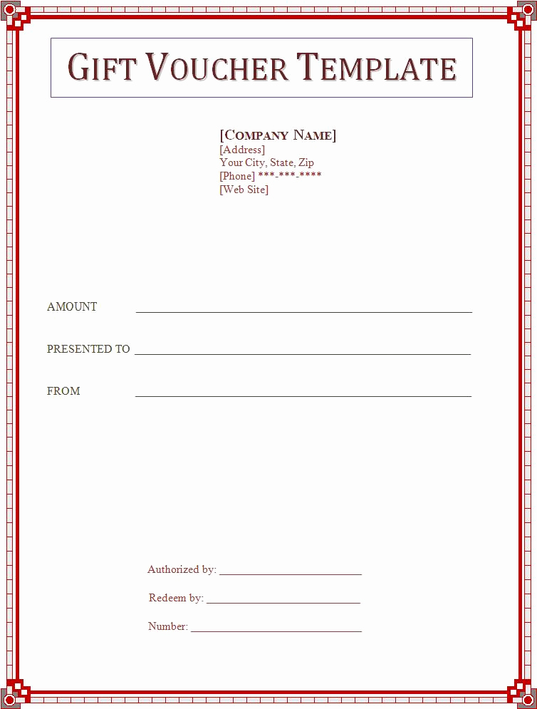 Word Gift Certificate Template Awesome Voucher Templates