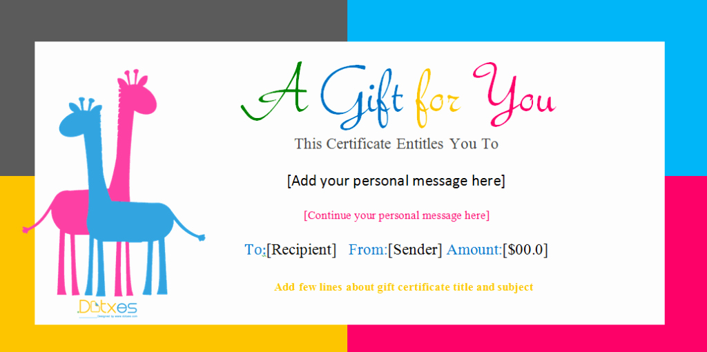 Word Gift Certificate Template Best Of Gift Certificate Template