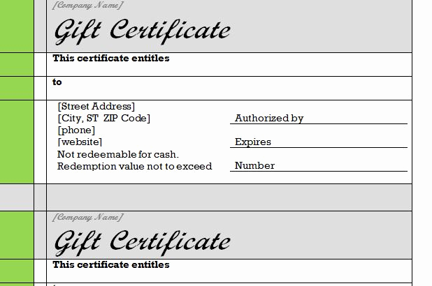 Word Gift Certificate Template Unique Gift Certificate Template Word