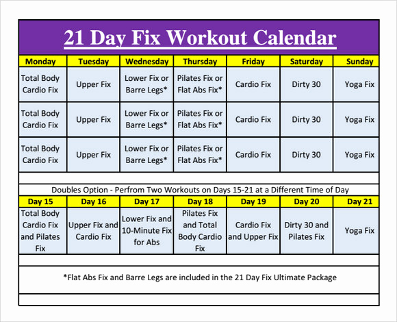 Work Out Schedule Templates Awesome Workout Calendar Templates 10 Download Documents In Pdf