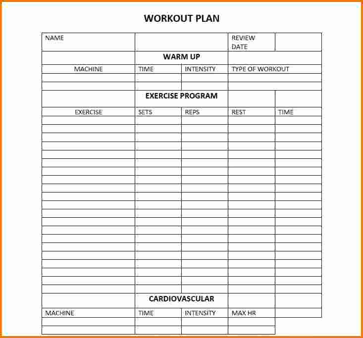 Work Out Schedule Templates Beautiful Daily Workout Calendar 2018 Template Excel Word Pdf