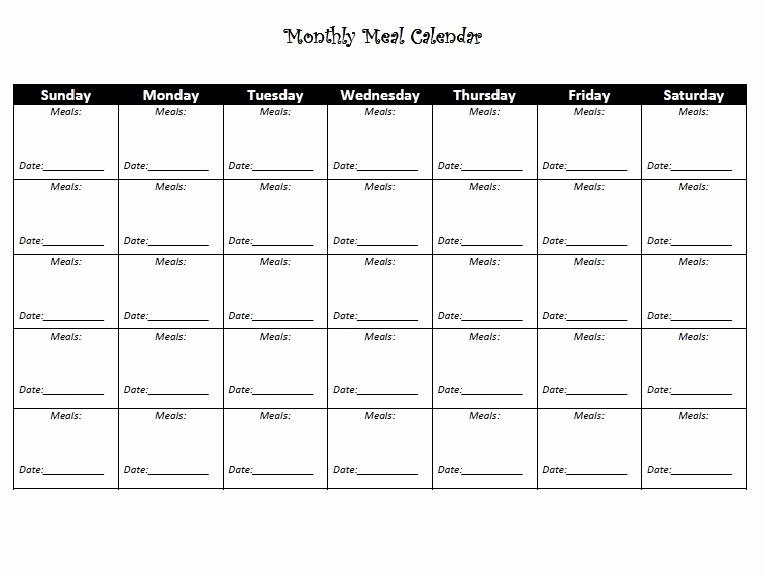 Work Out Schedule Templates Fresh Monthly Diet Calendar Template