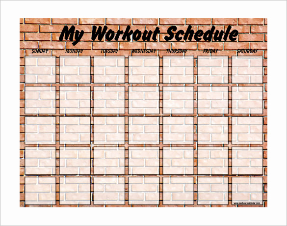 Work Out Schedule Templates Inspirational Exercise Schedule Template – 7 Free Word Excel Pdf