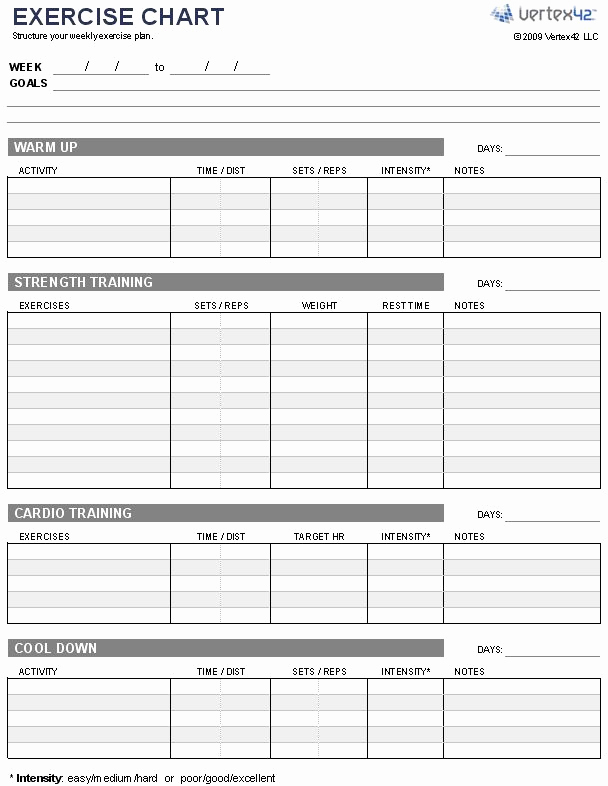 Work Out Schedule Templates New some Great Advice for Getting Fit This Year