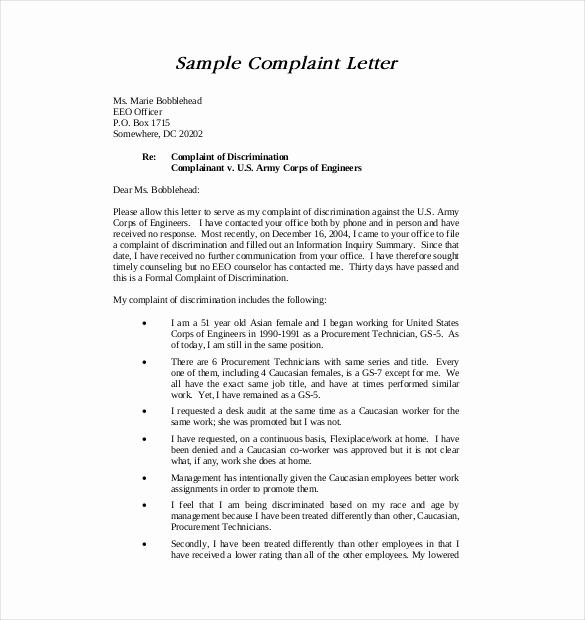 Writing A Complaint Letter Elegant 19 Letter Of Plaint Templates Doc Pdf