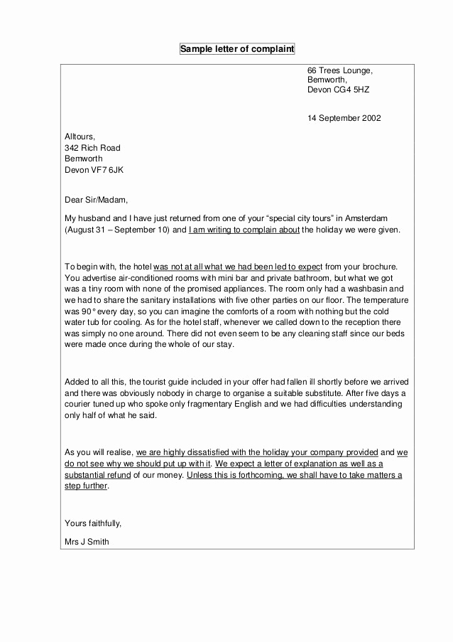 Writing A Complaint Letter Inspirational format Of A Letter Of Plaint Published