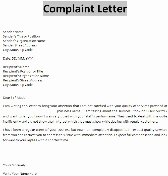 Writing A Complaint Letter New What is Plaint Letter In Business Munication