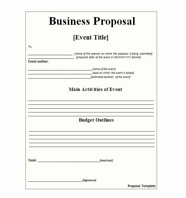 Writing A Proposal Letter Beautiful 30 Business Proposal Templates & Proposal Letter Samples